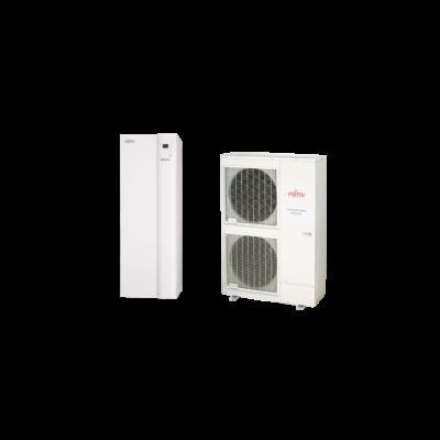 Fujitsu Waterstage HPDUO 14 / 3F használtai melegvíz tartállyal (WGYK160DG9 / WOYK140LCTA) levegő-víz hőszivattyú 13.5 kW