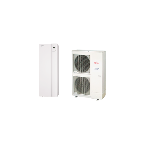 Fujitsu Waterstage HPDUO 14/3F használtai melegvíz tartállyal (WGYK160DG9 / WOYK140LCTA) levegő-víz hőszivattyú 13.5 kW