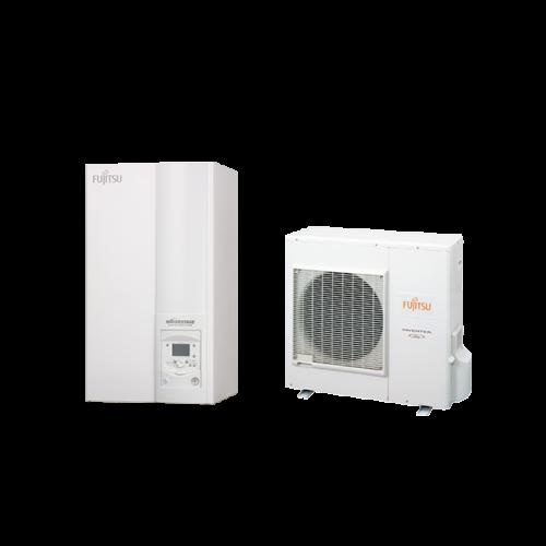 Fujitsu Waterstage Comfort 190 literes használati melegvíz tartállyal (WGYA080ML3 / WOYA080KLT) levegő-víz hőszivattyú 7,5 kW