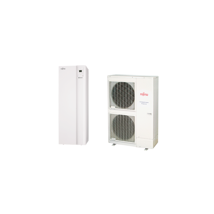Fujitsu Waterstage SUPER HIGH POWER integrált 190 literes használati melegvíz tartállyal SHPDUO15/3F (WGYK170DJ9 / WOYK150LJL) levegő-víz hőszivattyú 15 kW
