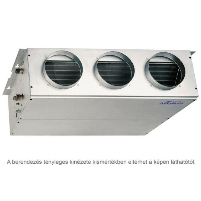Galletti UTN 12A DF fan-coil (4 csöves, magasnyomású, légcsatornás)