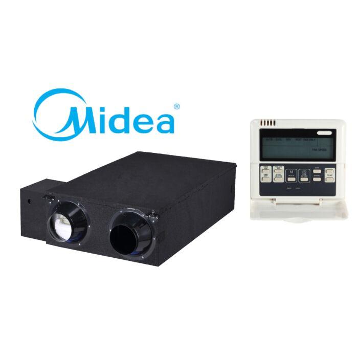 Midea HRV-D2000(B) hővisszanyerős szellőztető WDC-120G/WK távirányítóval
