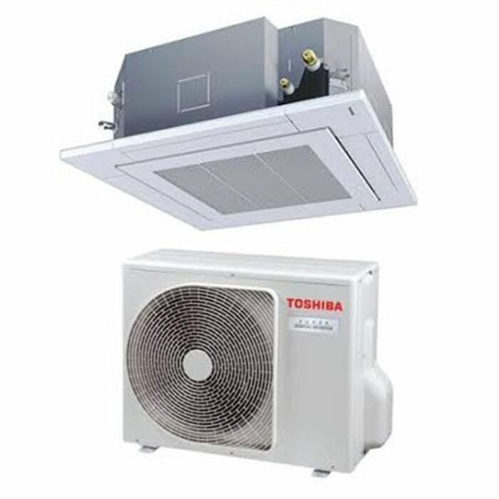 Toshiba RAV-RM1101UTP-E RAV-GP1101AT8-E (Super Digital Inverter, 4 utas standard, 3 fázisú) kazettás klíma