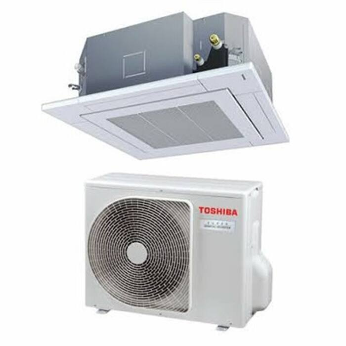 Toshiba RAV-RM1401UTP-E RAV-GP1401AT8-E (Super Digital Inverter, 4 utas standard, 3 fázisú) kazettás klíma