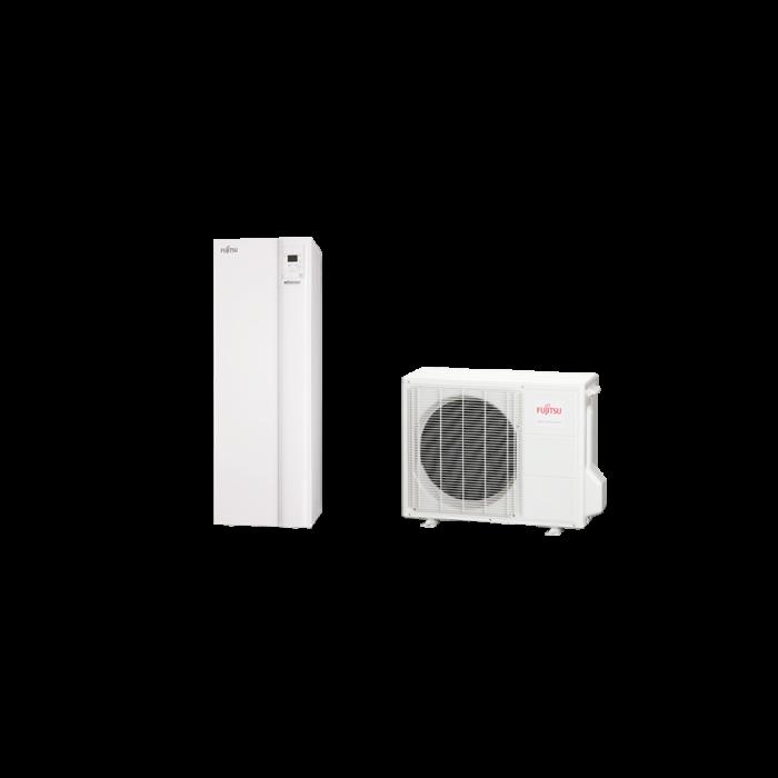 Fujitsu Waterstage SDUO 8 Comfort használati melegvíz tartállyal (WGYA100DG6 / WOYA080LFCA) levegő-víz hőszivattyú 7.5 kW