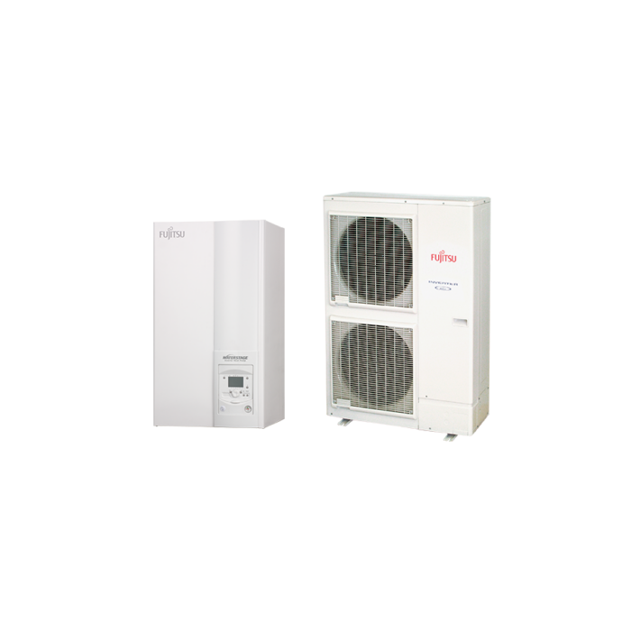 Fujitsu Waterstage HP 14/3F High Power V2 (WSYK160DG9 / WOYK140LCTA) levegő-víz hőszivattyú 13.5 kW