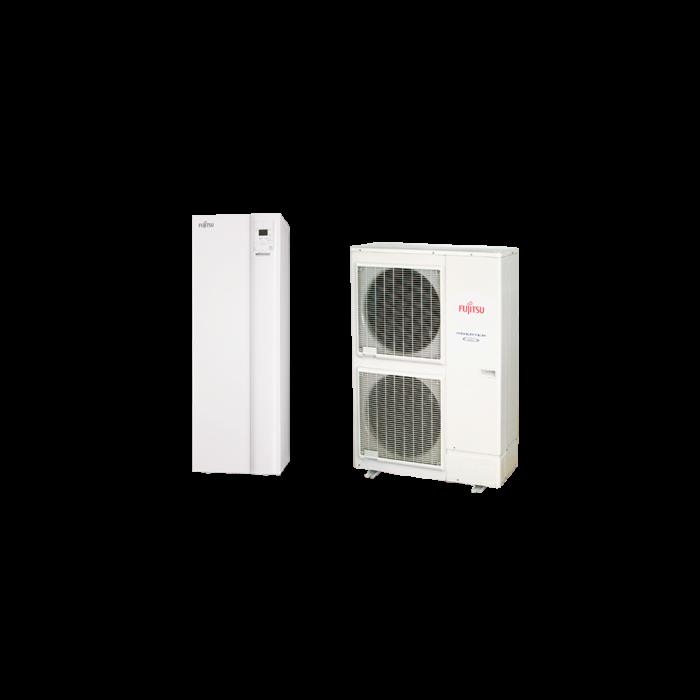 Fujitsu Waterstage HPDUO 11/3F használati melegvíz tartállyal (WGYK160DG9 / WOYK112LCTA) levegő-víz hőszivattyú 10.8 kW