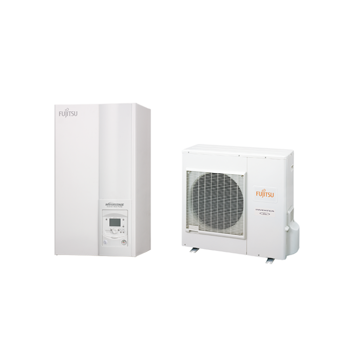 Fujitsu Waterstage HP 11/1F (WSYG140DG6 / WOYG112LHT) levegő-víz hőszivattyú 10,8 kW